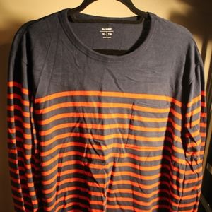 Men's Old Navy Striped Long Sleeve Pocket Tee
